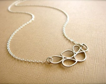 Silver Bubbles Necklace