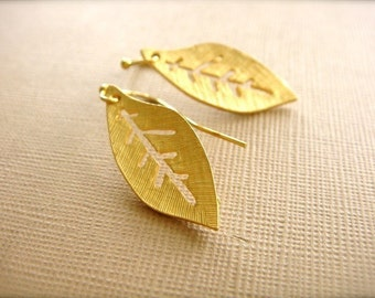 Golden Leaves Earrings