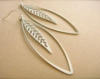 Encased Leaf Earrings