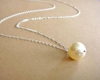 Simple Cream Pearl Necklace - Bride, Bridal party, Bridesmaid