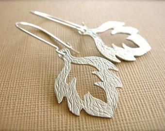 Silver Oak Leaf Earrings