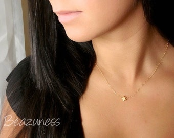 Shooting Star Necklace - Gold or Rose Gold