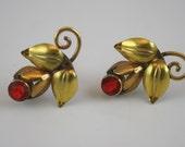 Vintage Gold-Filled  Flower Earrings