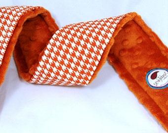 Camera Strap Cover ...TeXaS Longhorn Orange Houndstooth... CANON nikon