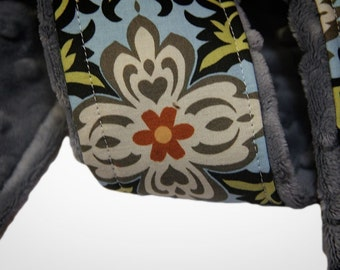 DSLR Camera Strap Cover- Temple Garland Blue - Amy Butler -Rare Limited Edition