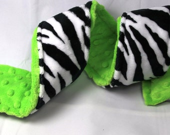 Camera Strap Cover - Wild Zest ZEBRA and Neon Lime