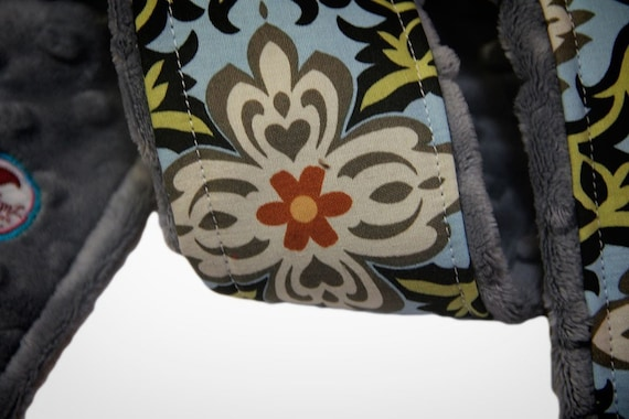 Camera Strap Cover- Temple Garland Blue - Amy Butler -Rare Limited Edition
