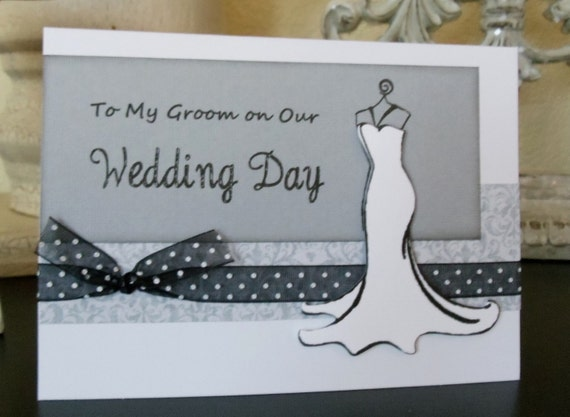 To My Groom on our Wedding Day Card with Envelope.  For your Future Husband