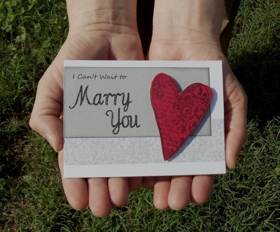 I Can't Wait To Marry You Heart Card -- For your Groom