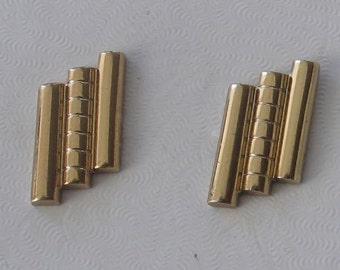 SALE Vintage Gold Geometric Hickok Cufflinks