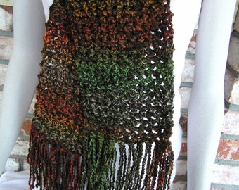 Deep in the Timber (Scarf of Dark Rich Colors)