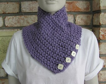 Chunky Lavender Cowl/Neckwarmer