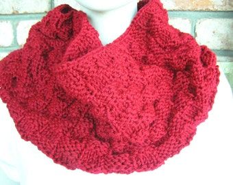 Wine Colored Infinity/Cowl/Neckwarmer