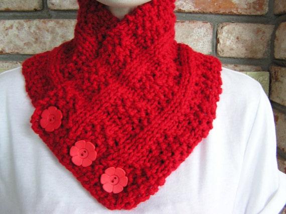 Cherry Red Cowl/Neckwarmer