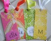 NEW PATTERNS  Personalized Bookmark with Placard monogram