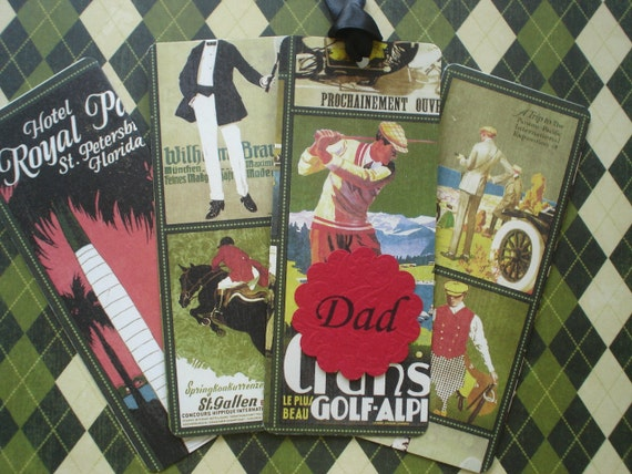 Gentlemen's Affair Personalized Bookmarks