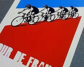 Hand Printed 'Tour De France' Poster - Artist Proof Test Print