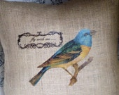 Fly With Me...Burlap Pillow Slip