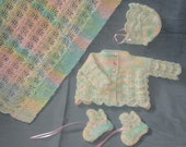 Rainbow Layette PDF Pattern