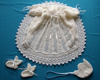 Ribbons & Lace Christening Gown PDF Pattern