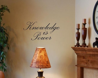 Vinyl wall lettering quotes and sayings #0504 Knowledge is Power