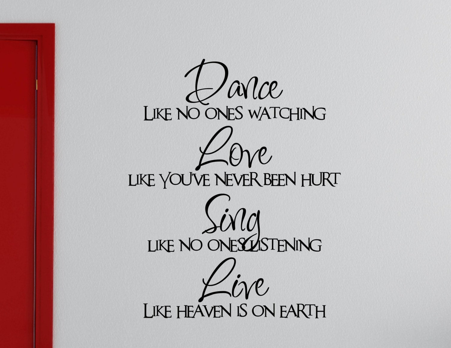 Dance Quotes: Vinyl Wall Quotes Wall Lettering Sayings 0174 Dance Like No