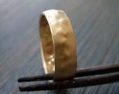 Organic. Man 14K Gold Wedding Band. Rough Gold Ring. Handmade. Fine Jewelry.