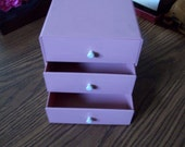 Pink Plastic Box with Drawers