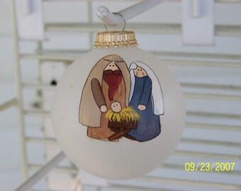 Handpainted Nativity Ornament