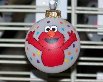 Handpainted Elmo Christmas Ornament