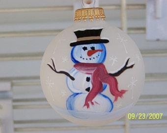 Handpainted Snowman Ornament