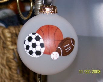 Handpainted Sports Christmas Ornament