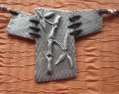 Fine Silver Bamboo Pendant