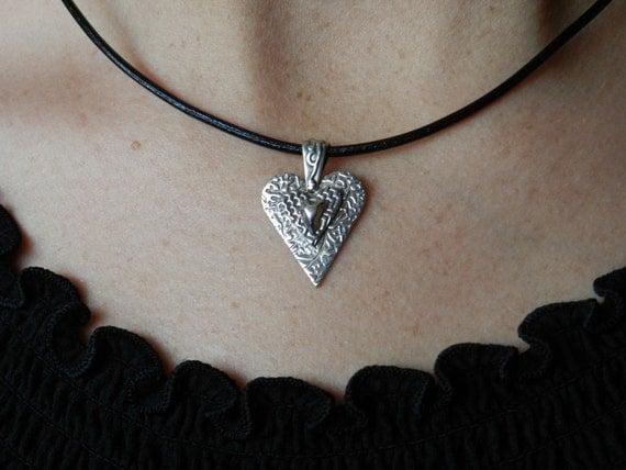 Heart in Fine Silver Triple Heart Design