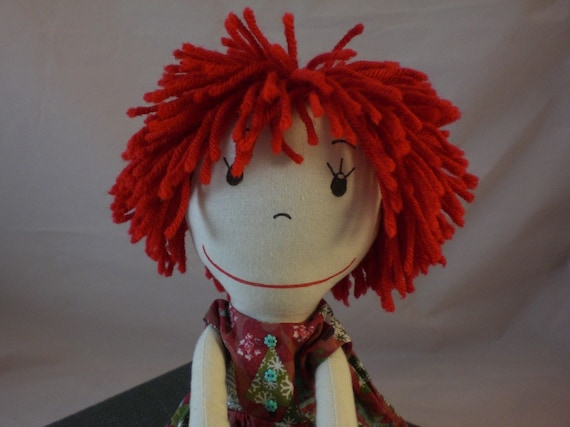 Rag Doll, light skin tone and a mop of red hair - Rita in Funky Trees