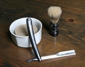 Shaving Kit with Razor and Beer Shaving Soap