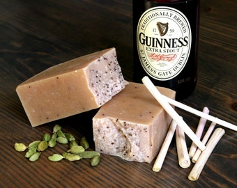 Lemongrass and Cardamom Beer Soap with Guinness