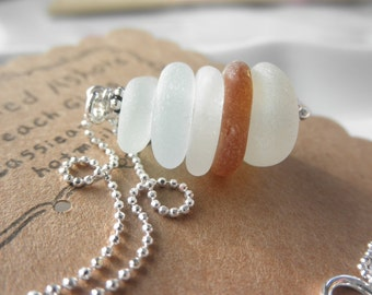 Forever and Always Summer Beach Glass Necklace