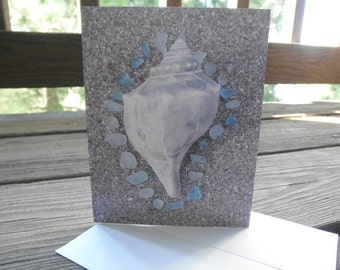 Aqua Dream Note Card Lake Erie Beach Glass