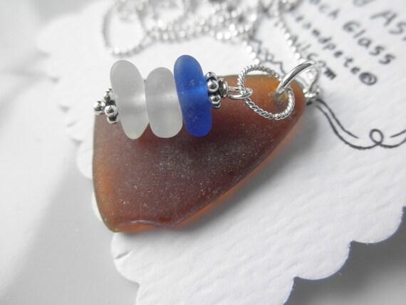 Set the Sail Lake Erie Beach Glass Necklace