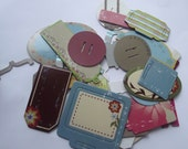 Decorated Chipboard tag collection.  Odds and ends