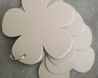 Blank Flower Chipboard Album with ring