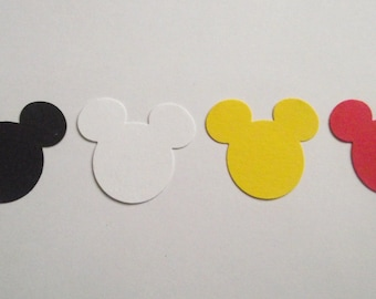 Mickey silhouette Cardstock Punches