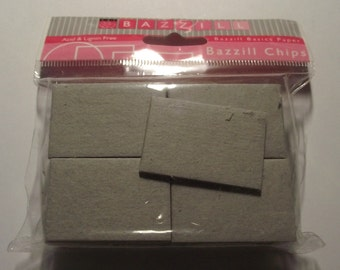Bazzill Rectangle Chipboard pieces New in package