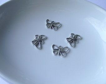 Silver tone Butterfly Component Destash
