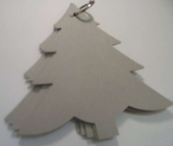 Christmas tree Chipboard Blank Album with ring
