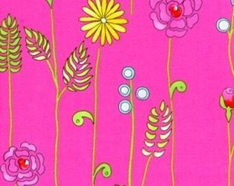 Monoco Stems in pink by Dena Designs for Freespirit fat quarter , 1/2 yard or yard quilting fabric apparel