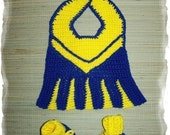 Littlest Cheerleader Bib and Bootie Set Crochet Pattern PDF - INSTANT DOWNLOAD.