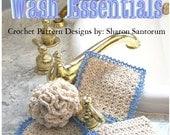 Spa Day Wash Essentials Crochet Pattern PDF - INSTANT DOWNLOAD.