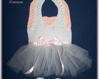 Littlest Ballerina Bib and Bootie Set Crochet Pattern PDF - INSTANT DOWNLOAD.